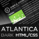 Dark Atlantica (HTML) - Premium Portfolio Template - ThemeForest Item for Sale