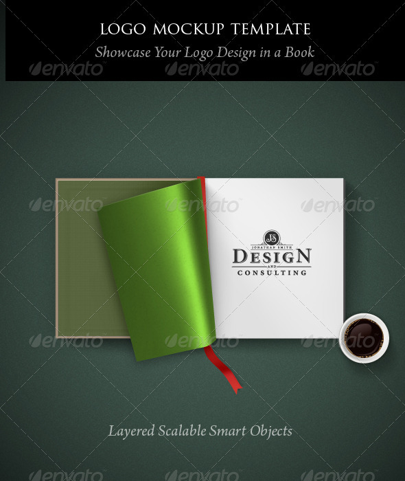 Logo Mockup Template: Open Book - Logo Product Mock-Ups