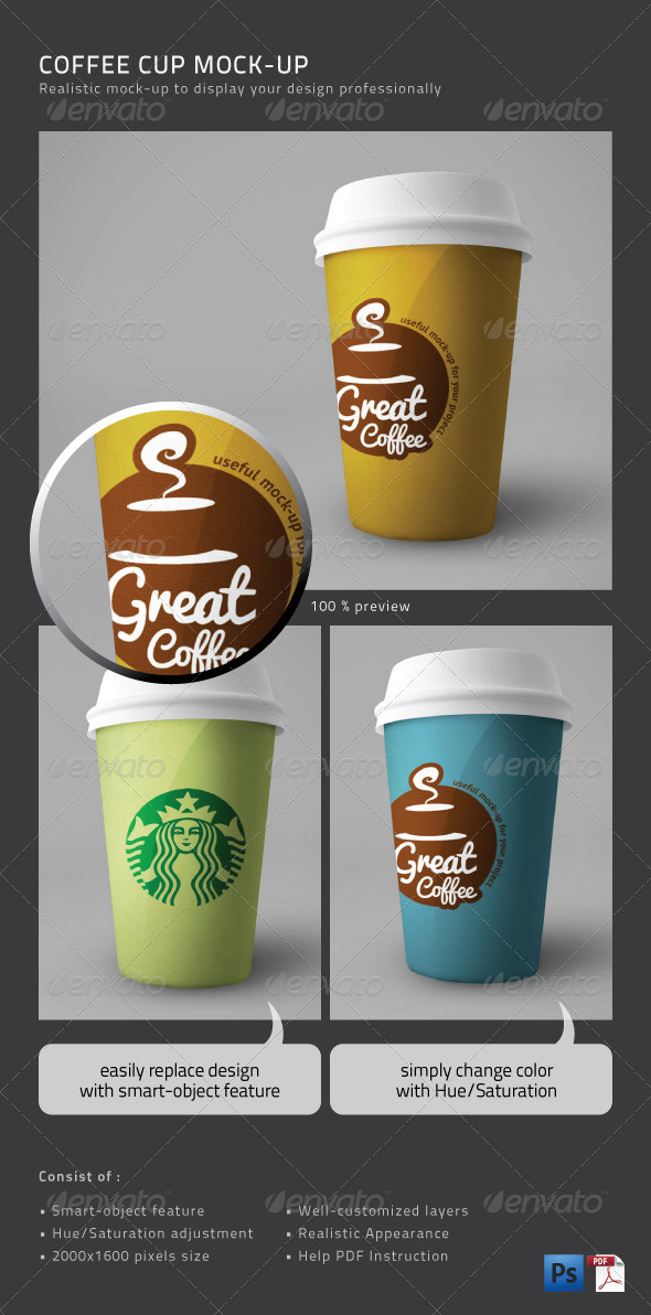GraphicRiver Coffee Cup Mock-Up 1239656