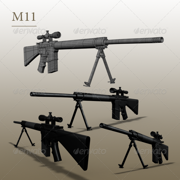 gun m11 - 3DOcean Item for Sale