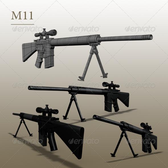 3DOcean gun m11 150523