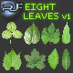 Set of Eight Green Leaves - GraphicRiver Item for Sale