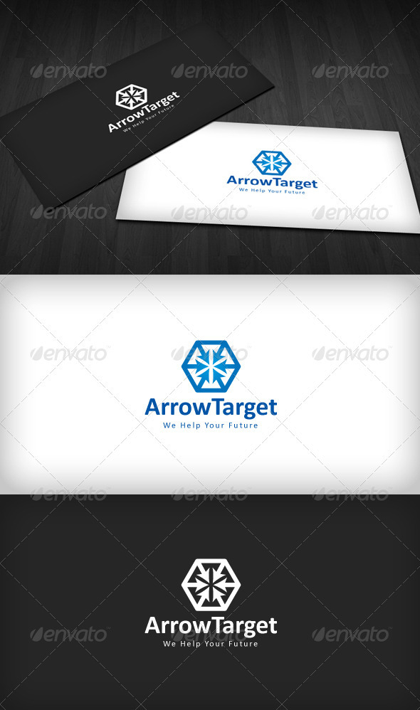 Arrow Target Logo - Vector Abstract