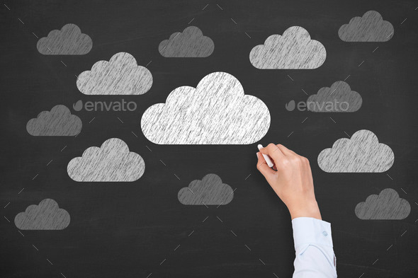 Cloud Texture Drawing Cloud Computing Concept