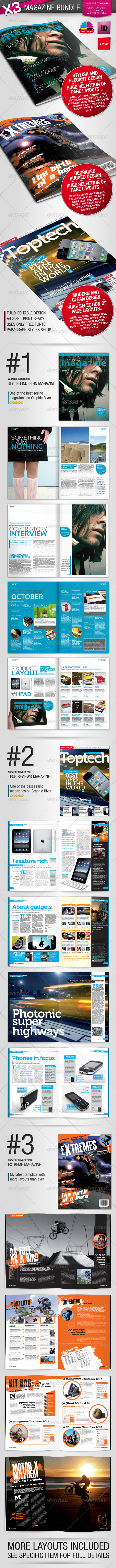 GraphicRiver Magazine Template Bundle 1230686