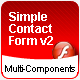 Flash 8 Contact Form with Buttons, Checkbox, and ComboBox Component - ActiveDen Item for Sale