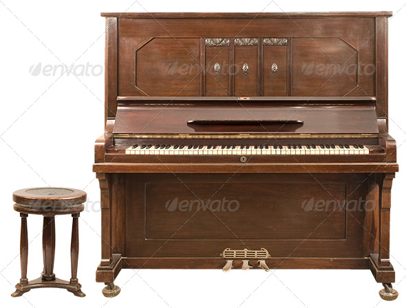 Upright Piano - Activities & Leisure Isolated Objects