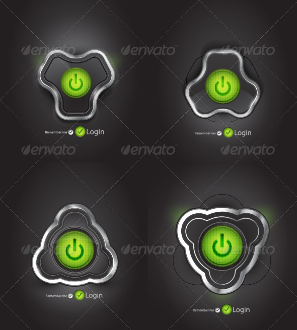 GraphicRiver Futuristic Power Buttons 1247402