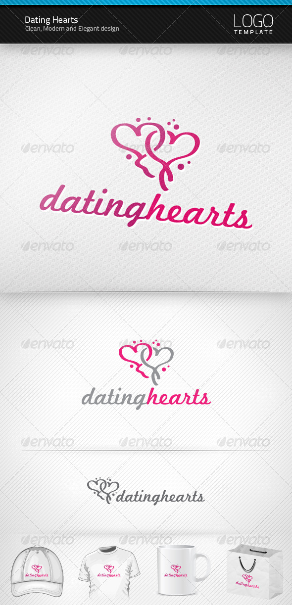 Dating Hearts Logo - Symbols Logo Templates