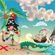Pirate on the Island. - GraphicRiver Item for Sale