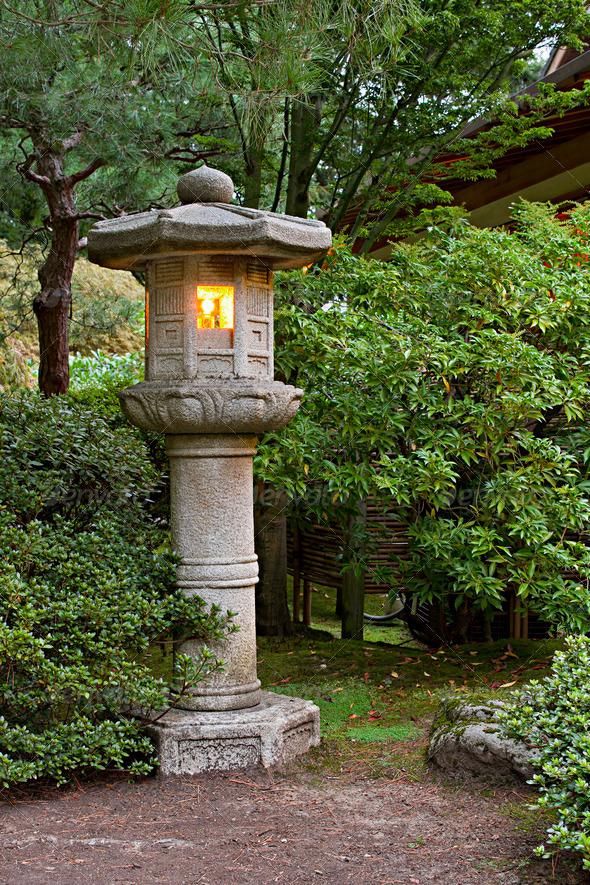Stone Lantern At Japanese Garden 2 Stock Photo By Davidgn Photodune