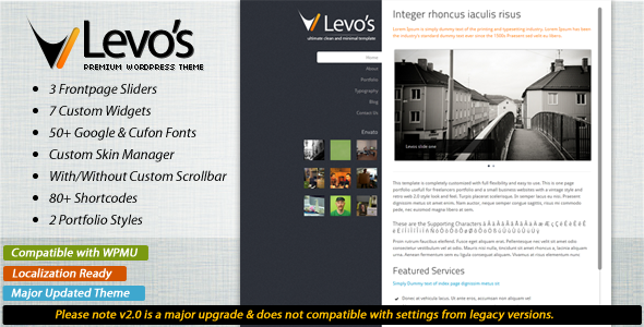 Levos 5 in 1 - Premium Wordpress Theme
