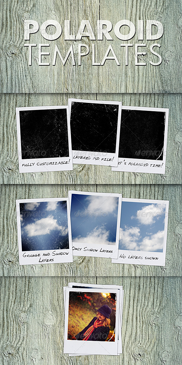 Polaroid Templates - Miscellaneous Photo Templates