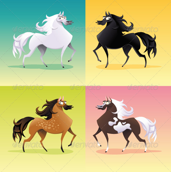 GraphicRiver Family of horses 151576