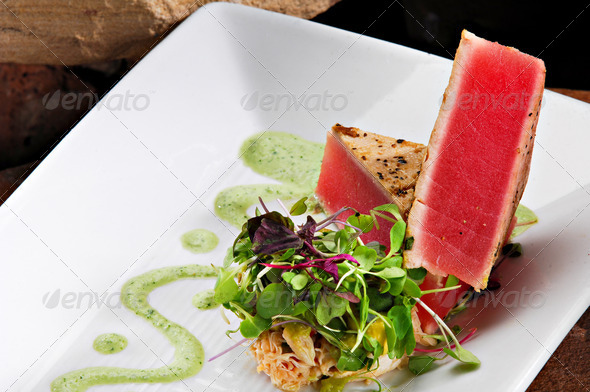 Ahi Tuna - Stock Photo - Images