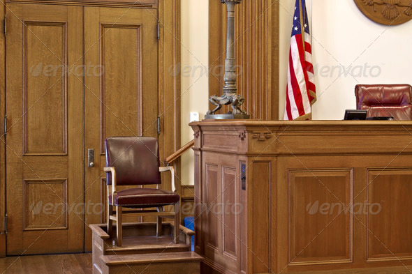 Stock Photo - PhotoDune Courtroom Witness Stand Chair 1256738