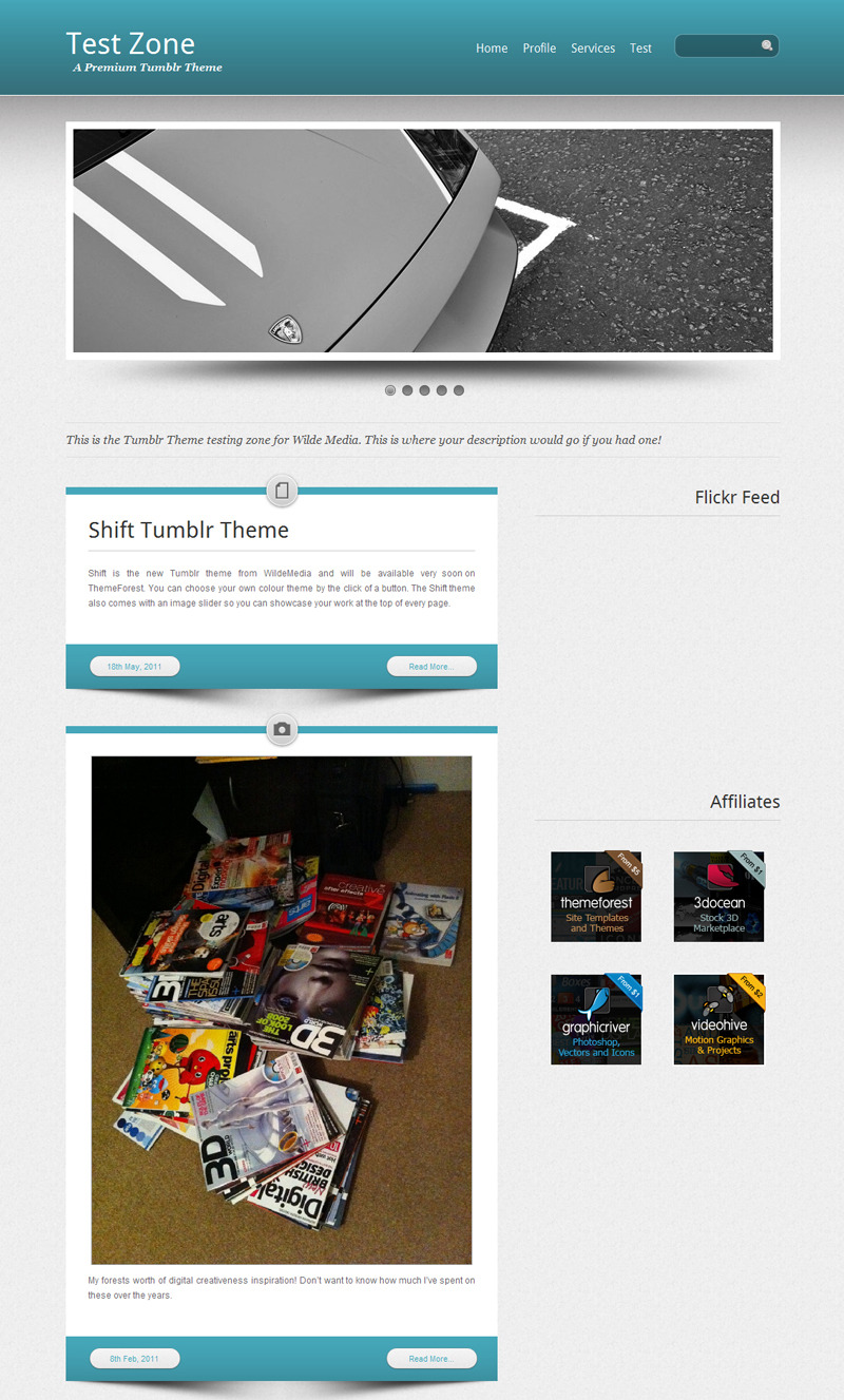 Shift Tumblr Theme