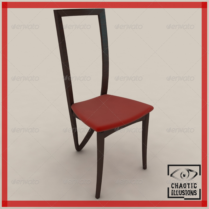 3DOcean 3 legged dining chair 152053