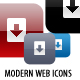 Modern Web Icons - GraphicRiver Item for Sale