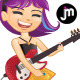 Rockstar Guitar Girl - GraphicRiver Item for Sale