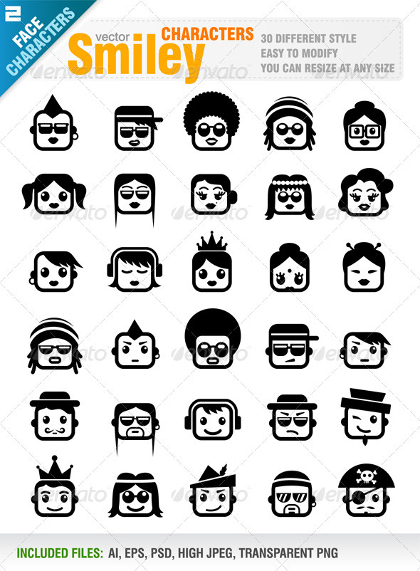GraphicRiver Smiley Characters 1259235