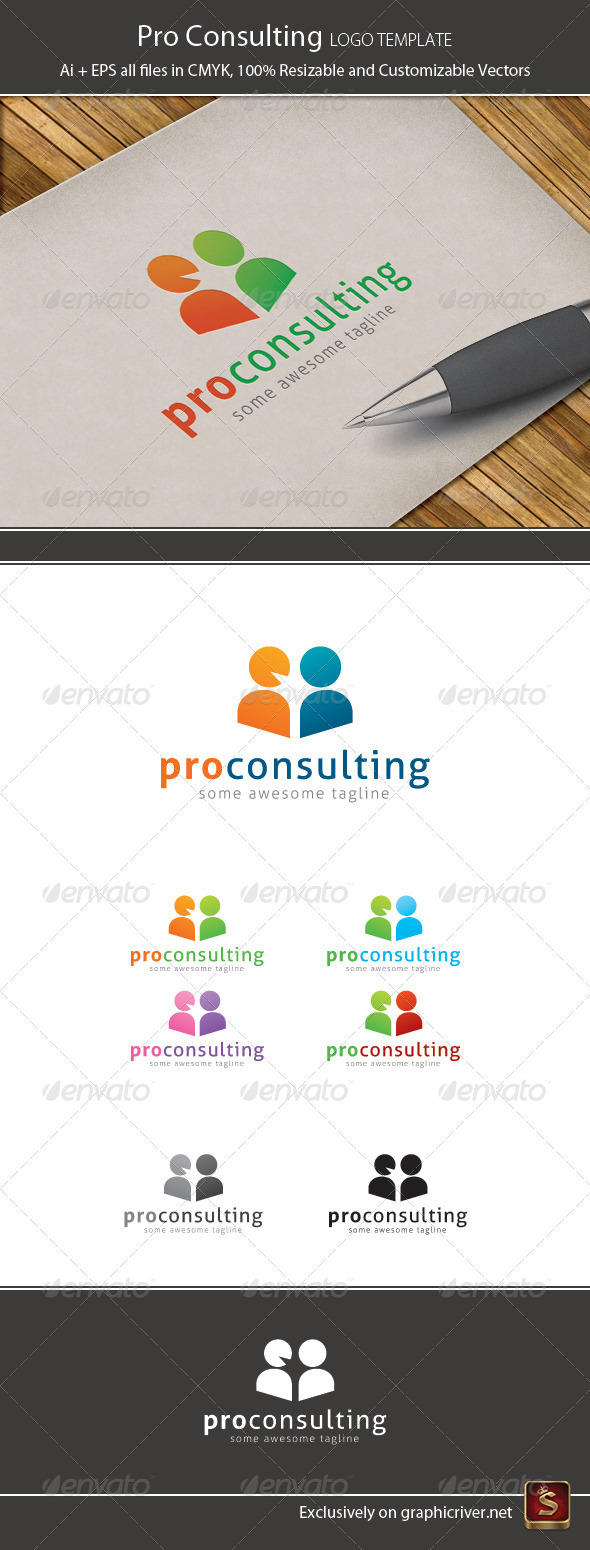 Pro Consulting Logo Template - Humans Logo Templates