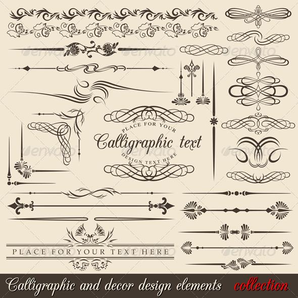GraphicRiver Calligraphic design elements 152345