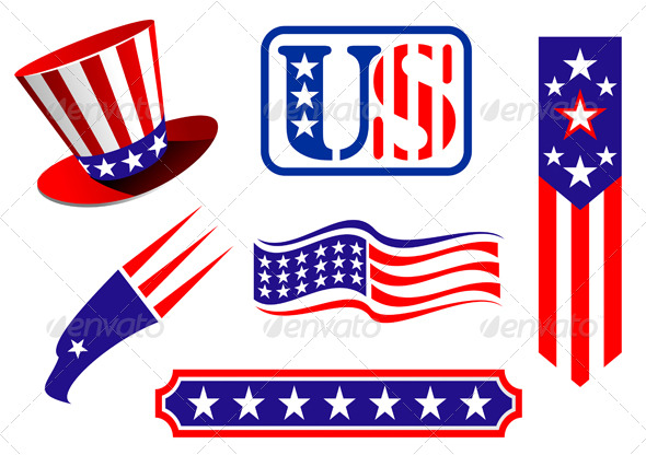 American patriotic symbols - Decorative Vectors
