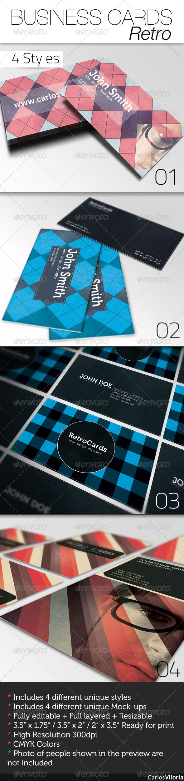 Business Card - Retro - Retro/Vintage Business Cards