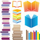 Set Of Vector Books - GraphicRiver Item for Sale