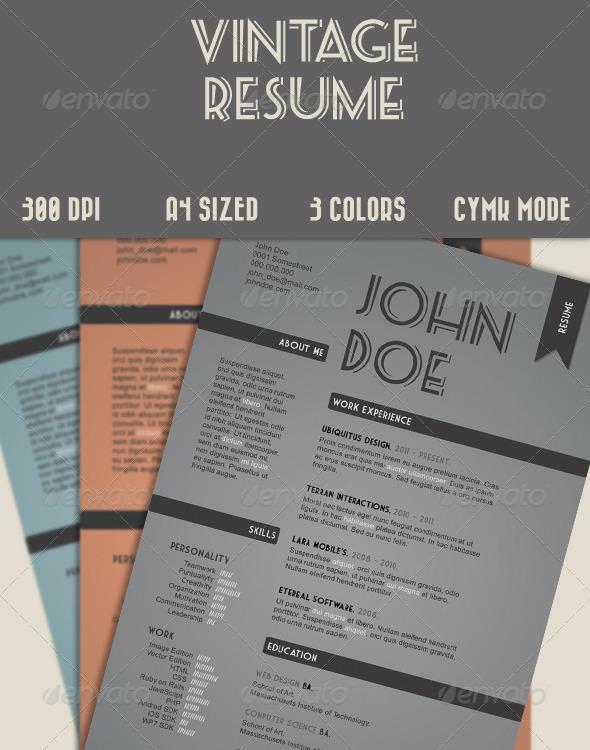 Vintage Style Resume