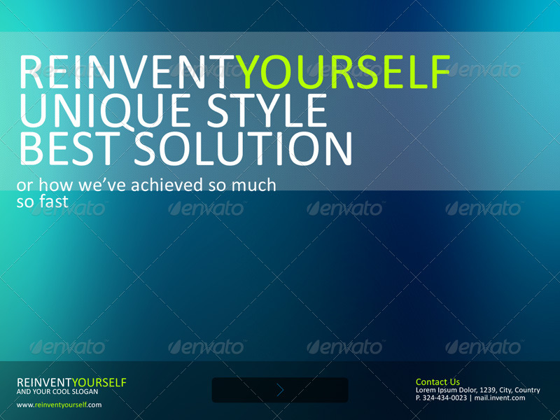Reinvent Yourself Powerpoint Template