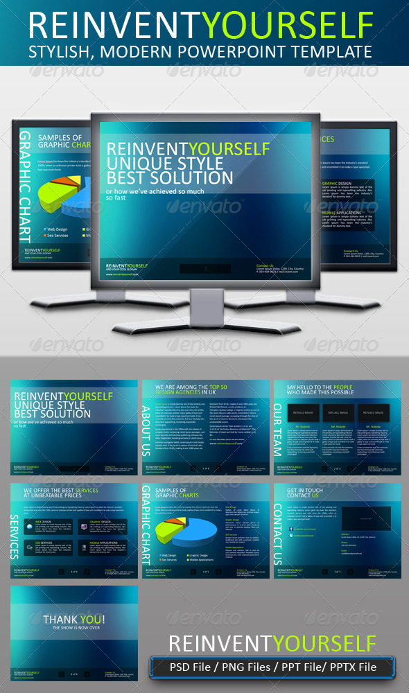 GraphicRiver Reinvent Yourself Powerpoint Template 152664
