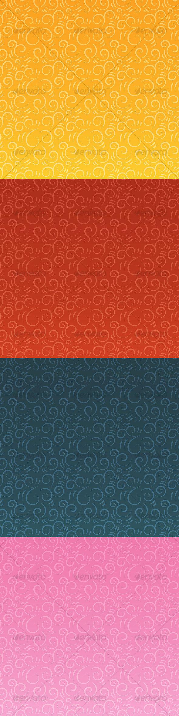 GraphicRiver Swirlush vector patterns 34569