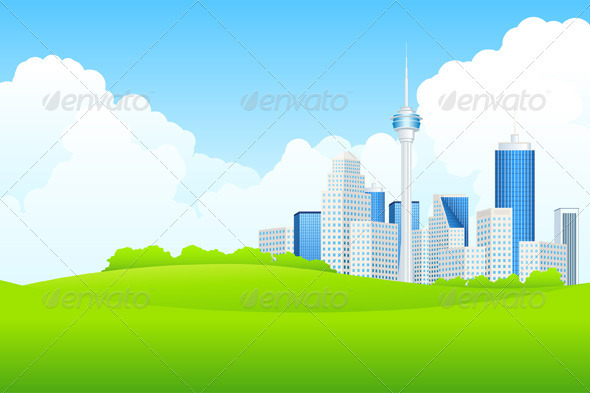 Business City Landscape - Buildings Objects
