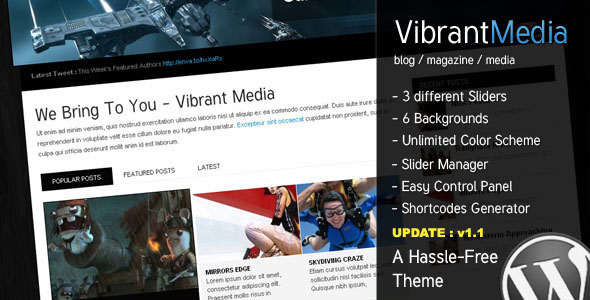 Vibrant Media - The Hassle Free all-use Theme