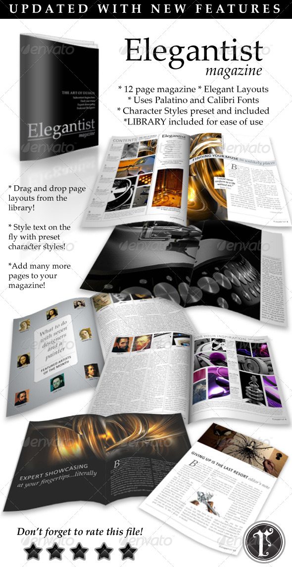 GraphicRiver Elegant Art Magazine Template 118214