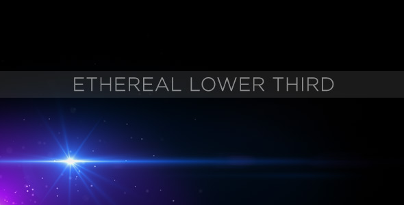 After Effects Project - VideoHive Ethereal Lower Third 153154