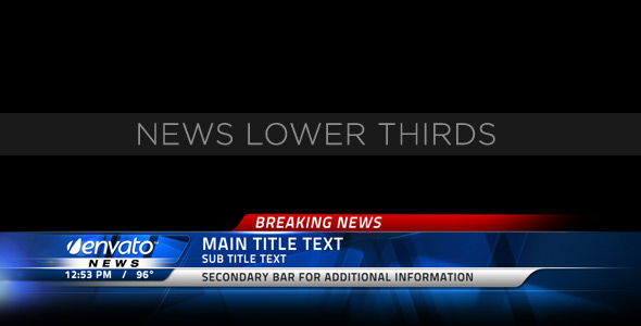 After Effects Project - VideoHive News Lower Thirds 153156