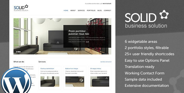 Solid WP - Corporate / Business WordPress Theme - Business Corporate