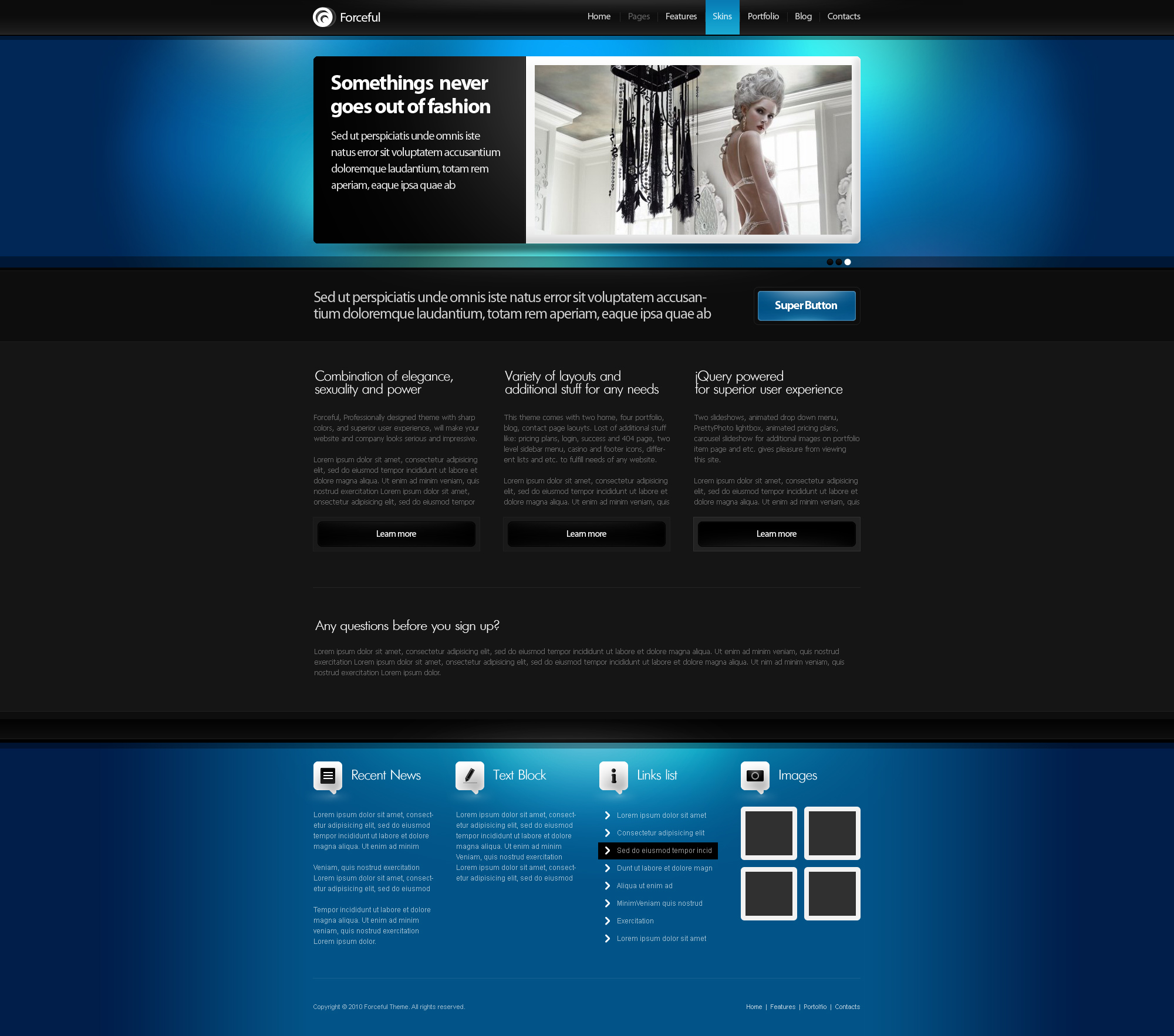 Forceful  HTML/CSS Theme