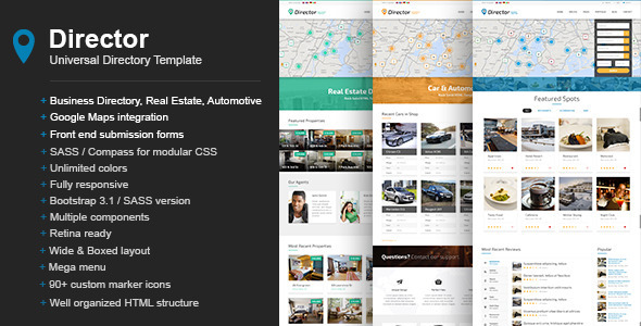 Director - Universal Directory Template by CodeVisionThemes ...