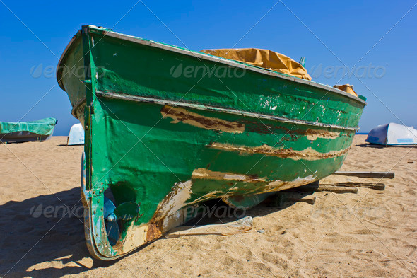 Green boat - Stock Photo - Images