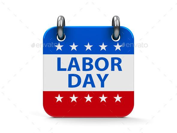 Calendar Labor Day : Labor day icon calendar stock photo by oakozhan photodune