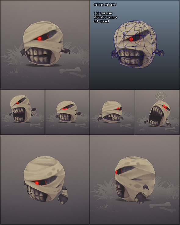 Low Poly Micro Mummy Taal 3DOcean -  Fantasy and Fiction  Monsters and Creatures 1274576 torrent