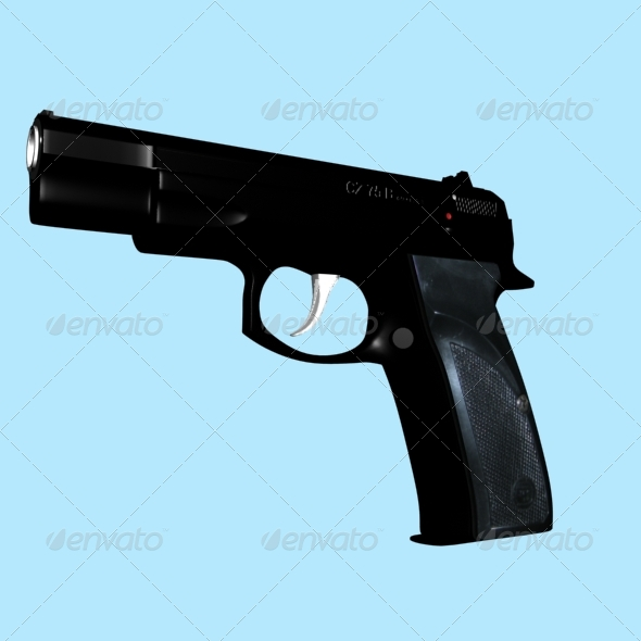 pistol CZ 75 B - 3DOcean Item for Sale