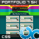 Single Page Portfolio 01 with 7 Skins - ThemeForest Item for Sale