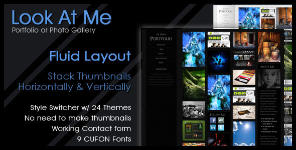 ThemeForest Look At Me Portfolio Design Photo Gallery 153906