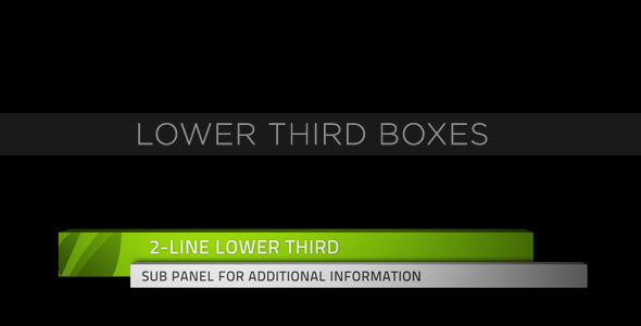 After Effects Project Files Lower Third Boxes Videohive