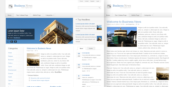 Business News - Clean Content Rich Theme